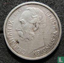 Deens West-Indië 10 cents 1905