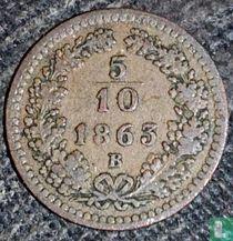 Austria 5/10 kreuzer 1863 (B)