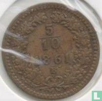 Austria 5/10 kreuzer 1861 (B)