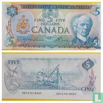 Canada 5 Dollars 1979