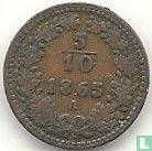 Austria 5/10 kreuzer 1865 (A)