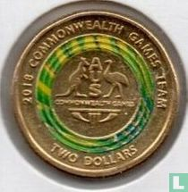 "Australia 2 dollars 2018 ""Gold Coast Commonwealth Games - Team logo"""