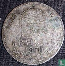 Hongarije 20 krajczar 1870 (KB)
