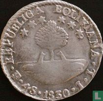 Bolivia 4 soles 1830 (PTS JL)