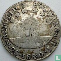 Bolivia 2 soles 1830 (JL)