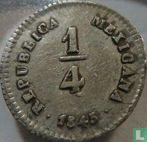 Mexico ¼ real 1845 (Mo LR)