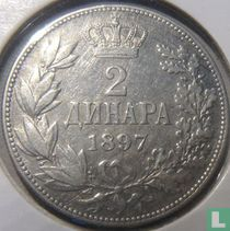 Servië 2 dinara 1897