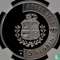 "Aruba 5 florin 2019 (PROOF) ""Green sea turtle"""