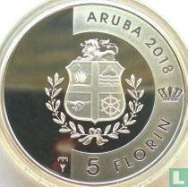 """Aruba 5 florin 2018 (PROOF) """"Hermit crab"""""""