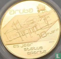 "Aruba 10 florin 2011 (PROOF) ""25th anniversary Status Aparte"""