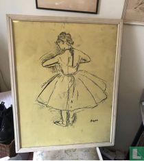 Vintage Degas Poster, Danseuse debout, vue de dos