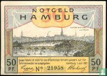 Hamburg Burgermilitar 50 Pfennig, 1921