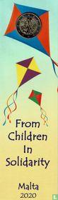 "Malta 2 euro 2020 (coincard) ""Children's game"""
