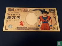 DRAGON BALL Z - GOKU - goud folie biljet