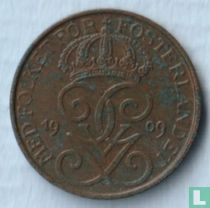 Zweden 1 öre 1909 (klein kruis)