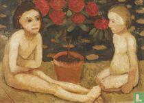 Zwei sitzende Kinderakte, 1906