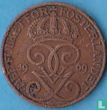 Zweden 1 öre 1909 (groot kruis)