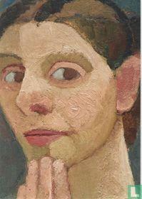 Selbstbildnis nach halblinks, die Hand am Kinn, 1906
