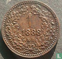 Hongarije 1 krajczar 1888