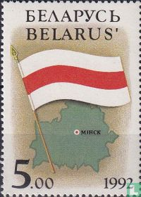 Flag and Map of Belarus