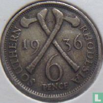 Zuid-Rhodesië 6 pence 1936