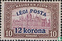 Parliament building, with overprint