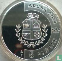 "Aruba 5 florin 2014 (PROOF) ""60th carnival of Aruba"""