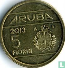 "Aruba 5 florin 2013 ""Abdication of Queen Beatrix"""