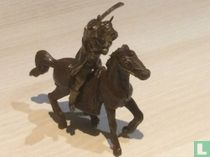 Mongoolse krijger te paard