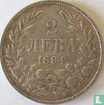 Bulgarije 2 leva 1894