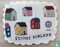 Dorp met gekleurde huizen
