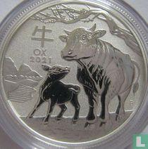"Australië 50 cents 2021 (kleurloos) ""Year of the Ox"""