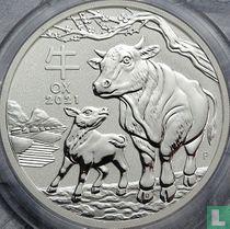 "Australië 2 dollars 2021 (kleurloos) ""Year of the Ox"""