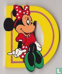 Disney Letters : D : Minnie Mouse