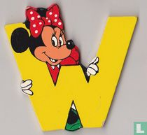 Disney Letters : W : Minnie Mouse
