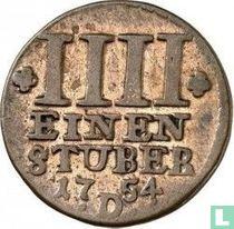 Oost-Friesland ¼ stuber 1754