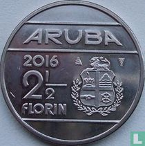 Aruba 2½ florin 2016 (sails of a clipper without star)