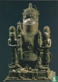 Statue votive-Aser Beria-with Oba Akenzua