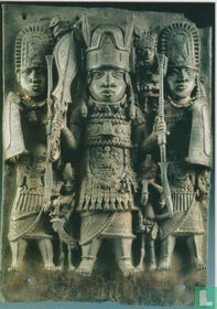 Plaque Depicting the king (oba) and his servants