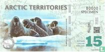 ARCTIC TERRITORIES 15 POLAR DOLLARS 2011 UNC