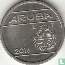 Aruba 25 cent 2016 (sails of a clipper with star)