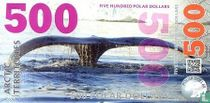 ARCTIC TERRITORIES 500 POLAR DOLLARS 2017 UNC