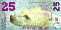 ARCTIC TERRITORIES 25 POLAR DOLLARS 2017 UNC