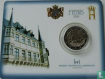 """Luxembourg 2 euro 2020 (coincard) """"Birth of Prince Charles"""""""