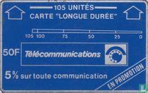 """Carte """"longue durée"""" 105 unités"""