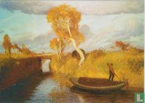 Moorbrücke (herbst im Moor), 1896