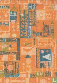Preliminary design for a children's tablecloth, 1965