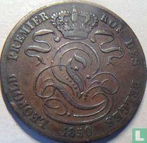 België 5 centimes 1850 (brede 0)