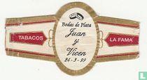 Bodas de Plata Juan y Vicen 24-3-99 - Tabacos - La Fama