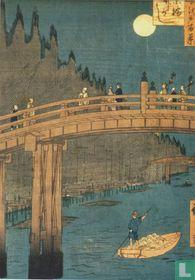 Kyoto Bridge by moonlight, 1855